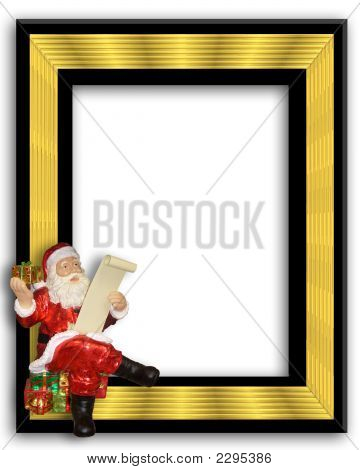 Santa Sitting On A Picture Fram