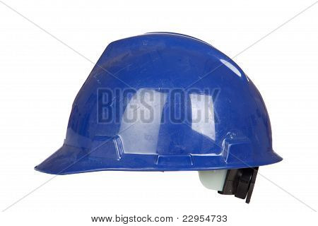 Blue Helmet Isolated