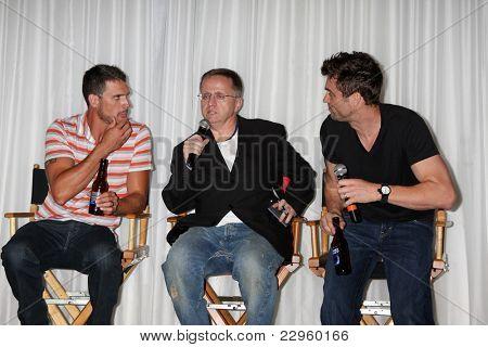 LOS ANGELES - AUG 27:  Joshua Morrow, Michael Maloney, Daniel Goddard attending the Daniel Goddard Fan Event 2011 at the Universal Sheraton Hotel on August 27, 2011 in Los Angeles, CA