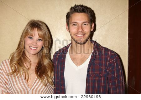 LOS ANGELES - AUG 27:  Kim Matula, Scott Clifton attending the Bold & The Beautiful Fan Event 2011 at the Universal Sheraton Hotel on August 27, 2011 in Los Angeles, CA