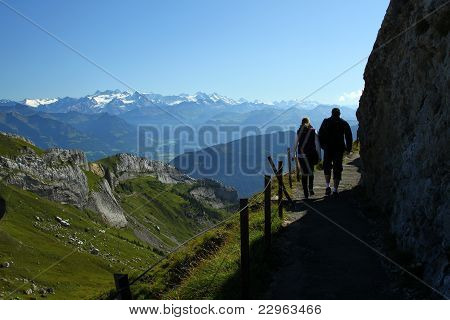 Happy hiking in Alps
