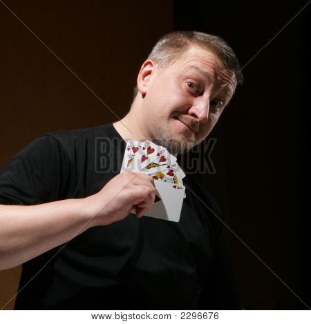 Portrait Of The Man With Royal Flush