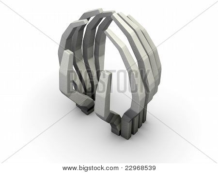 Abstract Hands Sculpture