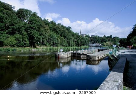 Sluice Of Bizernig, ChâTeauneuf-Of-Faou, Brittany, France,