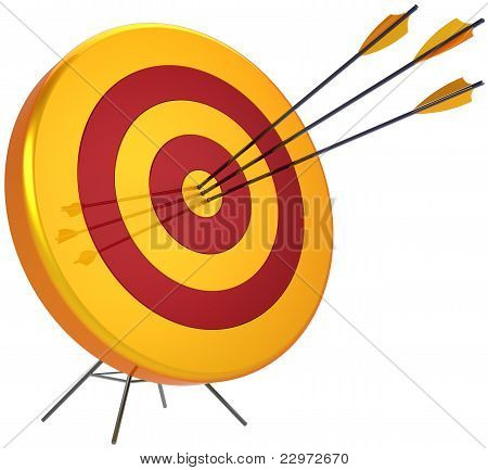 Business target success shooting concept
