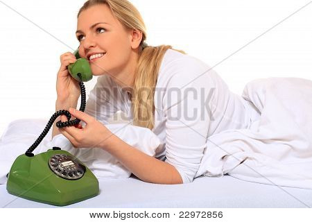 Phone call in bed
