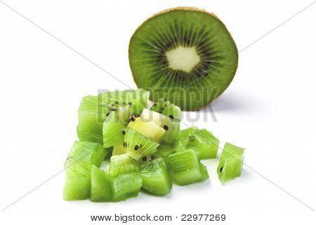 Small pieces of kiwi