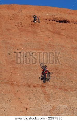 Bikers Uphill (Two)