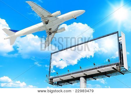 Giant Poster Plane Flying