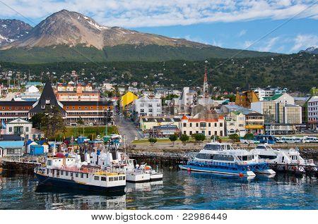 Ushuaia Harbor,Tierra Del Fuego, Argentina