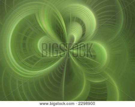 Digital Abstract Background - Woven Green