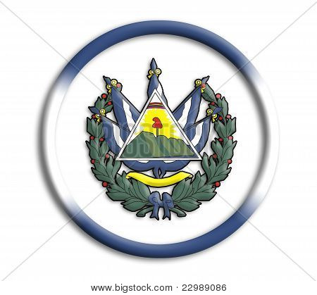 El Salvador button shield on white background