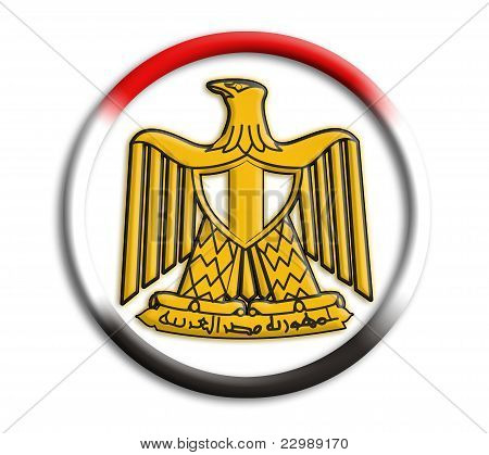 Egypt button shield on white background