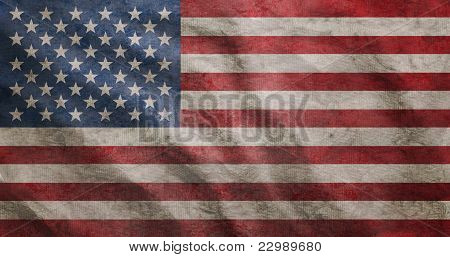 Grunge Rugged Usa Flag