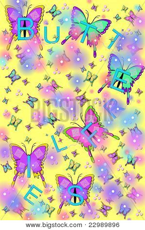 Bling, Butterflies And Bugs Yellow