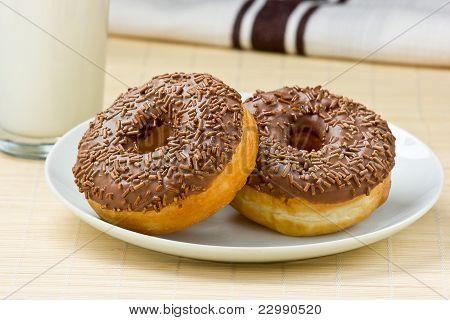 Chocolate Doughnut & Milk.