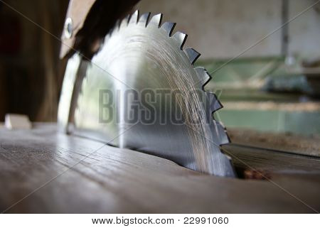 Closeup of saw