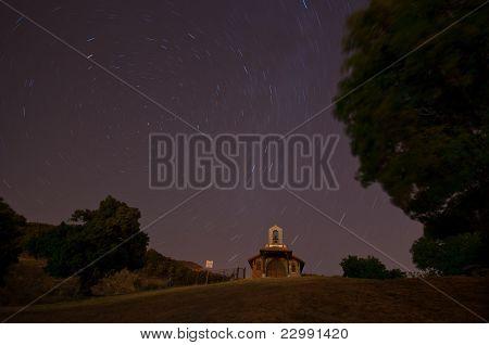 Starry night in the chapel of Cercedilla - 2