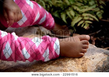 Eleven Month Old Baby's Foot