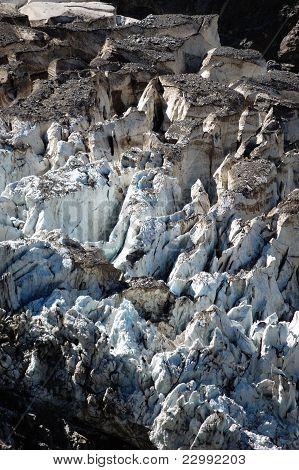 Closeup of glacier