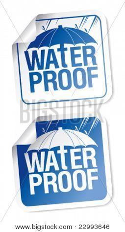 Waterproof stickers set.