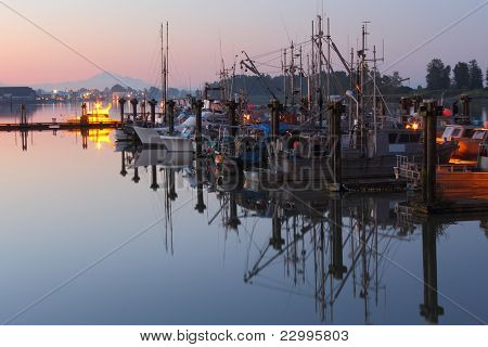 Steveston Calm Morning Reflections