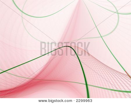 Fractal Abstract Background - Curving Threads