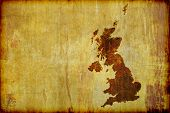picture of cartographer  - A grunge antique style map of Great Britain  - JPG