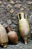 Ancient Roman Amphorae Found During Excavations In Ancient Pompeii, Italy poster