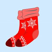 Christmas Socks For Gift, Winter Sock To Holiday Illustration poster
