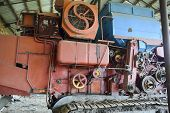 A Combine Harvesters A Agricultural Machinery Combine Harvesters. Agricultural Machinery. poster