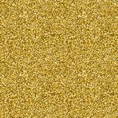 Gold Glitter Seamless Texture. Gold Vector Background poster