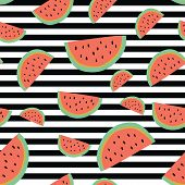 Vibrant Stripe Watermelon Background. A Vibrant, Modern, And Flexible Pattern For Brand Who Has Edgy poster