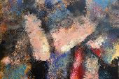 Abstract Art Background. Oil Painting On Canvas. Multicolored Bright Texture. Fragment Of Artwork. B poster