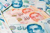 Singapore Dollar, Banknote Singapore On White Background poster