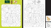 Worksheet For Practicing Cyrillic Letter Recognition And Fine Motor Skills - Color Only Fields With  poster