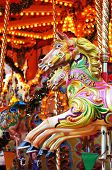 picture of carousel horse  - Detail of a carousel horse at the amusement park - JPG