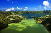 Landscape of Sete Cidades in Sao Miguel island, Azores Archipelago, Poprtugal, Europe poster