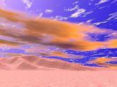 Fiery Desert Sky poster