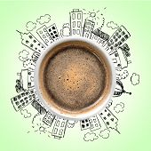 Cup Coffee Hot Hot Coffee Coffee Break Color Break poster
