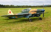 PILSEN, CZECH REPUBLIC - AUGUST 27: Russian historic tactical plane Ilyushin Il-2 from WW 2, Pilsen