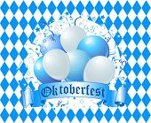 Oktoberfest Balloons Celebration Background