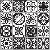 Modern Interior Spanish And Turkish Tiles. Kitchen Floral Vector Patterns. Illustration Of Surface M poster