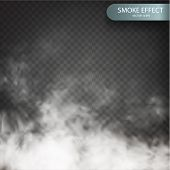 Cloud Effect On A Transparent Vector Background Realistic. Cloud Vector. Fog Or Smoke Isolated Trans poster