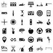 Motor Pool Icons Set. Simple Set Of 36 Motor Pool Vector Icons For Web Isolated On White Background poster