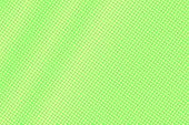 Green Yellow Dotted Halftone. Diagonal Radial Dotted Gradient. Half Tone Vector Background. Abstract poster