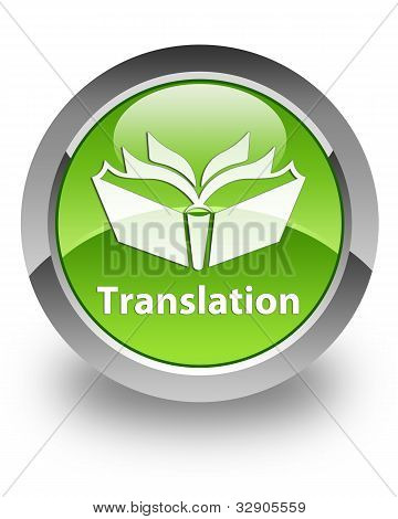 Translation glossy icon