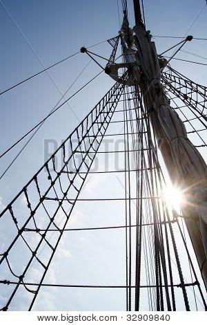 sailing ship's mast