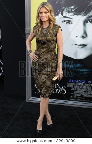 HOLLYWOOD, CA. - MAY 7: Actress Michelle Pfeiffer arrives at Warner Bros. Pictures World Premiere of 'Dark Shadows' on May 7, 2012 at Graumans Chinese Theatre in Hollywood, Ca.