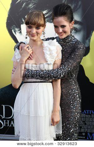 HOLLYWOOD, CA. - MAY 7: Bella Heathcote and Eva Green arrives at Warner Bros. Pictures World Premiere of 'Dark Shadows' on May 7, 2012 at Graumans Chinese Theatre in Hollywood, Ca.
